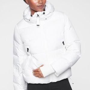 Athleta Snow Down White Ski Puffer Jacket Small